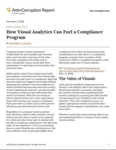 ACR Visual Analytics